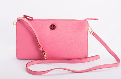 Authentic TORY BURCH Robinson Leather Wallet Crossbody