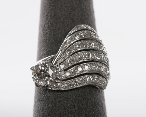 Gorgeous 1.26 tcw Diamond 14k White Gold Ring