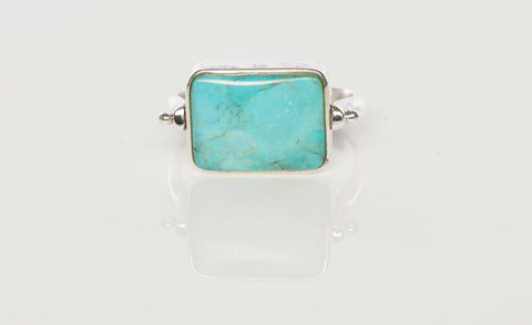 Reversible Turquoise and Lapis Ring