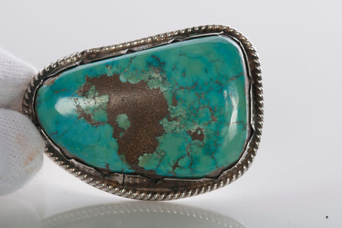 Sterling Silver Vintage Southwestern Turquoise Pendant