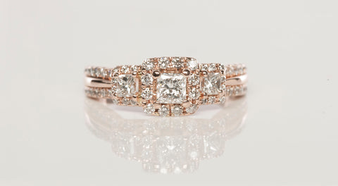 14k Rose Gold .78tcw Vera Wang Diamond Engagement Ring