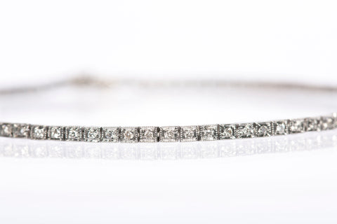 18K White Gold Diamond Tennis Bracelet!
