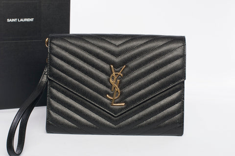 YSL Saint Laurent Monogram Envelope Clutch