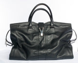Authentic YVES SAINT LAURENT Leather Cabas Chyc Weekender Handbag