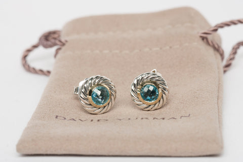 David yurman cable topaz earrings