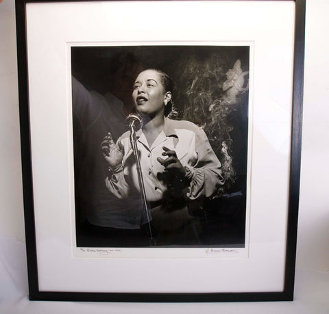 "LARGE Herman LEONARD: Billie Holiday ""Angel With Smoke NYC, 1949 20x24"