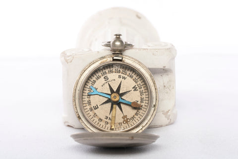 Vintage Wittnauer US Military Issue WWII Pocket Survival Compass