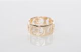 14k Yellow Gold Oriental Characters Band Ring