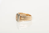 Unique 14k 2-Tone Buckle Ring