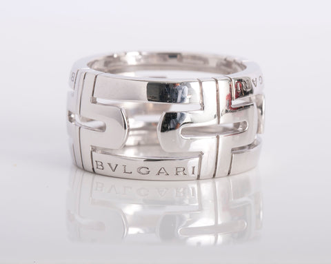 Bvlgari open palente white gold ring