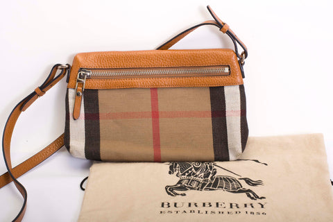 Burberry Haymarket Check Cross Body Bag