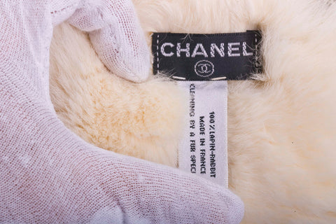 Auth. Chanel Rabbit Fur Bracelet with COA