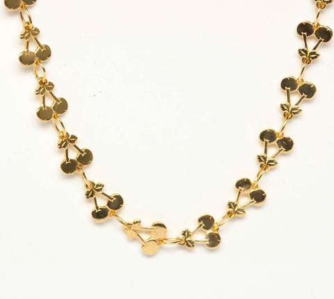 18k Gold Necklace of Cherries