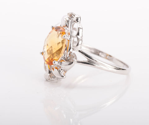 Citrine Cocktail Ring 14k