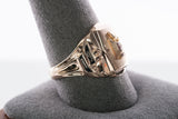 Vintage Mens 10k Yellow Gold High School Class Ring Mid Century 1957 8.1 grams