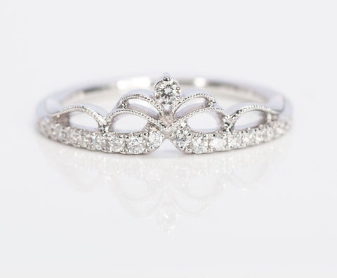 Tiara Diamond White Gold Ring
