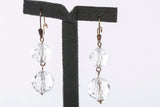 Elegant 14K Yellow Gold Quartz Dangle Earrings