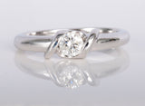 14k White Gold Diamond Ring .25ct