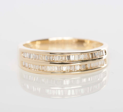 14K Gold and Diamond Ladies Band