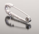 18k White Gold Scarf Pin (Brooch) with Pavè Diamonds