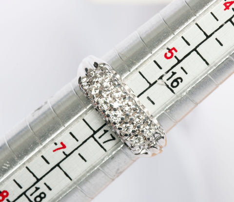 14k White Gold Diamond Band .36tcw SIze 6