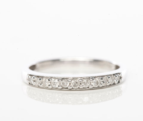 10k White Gold .11tcw Diamond Band Ring