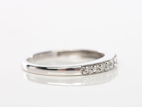 10K White Gold 1/4CT Diamond Band