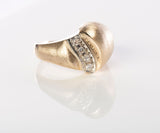 Elegant Ladies 14K Gold & Diamond Cocktail Ring
