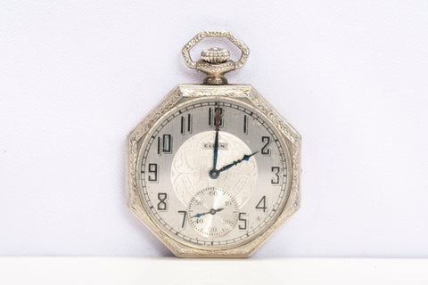 Vintage Elgin Pocket Watch Octagon c1925