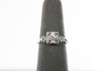 Starfire Mid Century Victorian Diamond Engagement Ring 14k White Gold .26 TCW