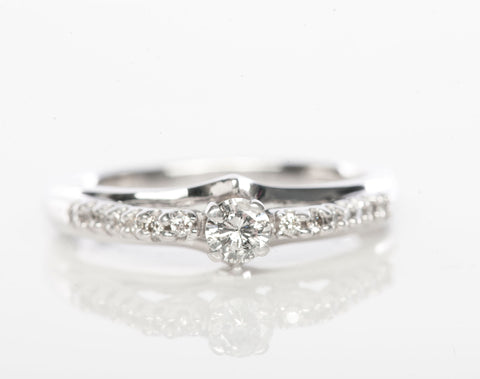 10K White Gold 3/8CT Diamond Promise / Engagement Ring