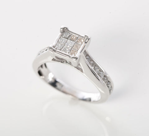 Stunning White Gold and 5/8CT Diamond Engagement Ring
