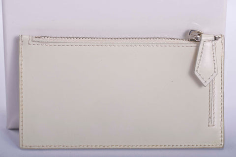 Auth. Givenchy White Card Holder with Receipt