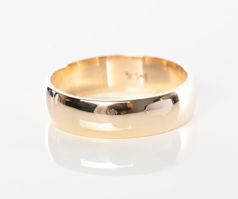Mens 14K Yellow Gold 5.5mm Polished Band / Ring