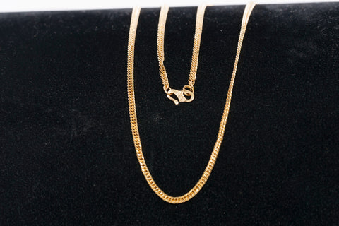 14k Gold Chain Fancy Link