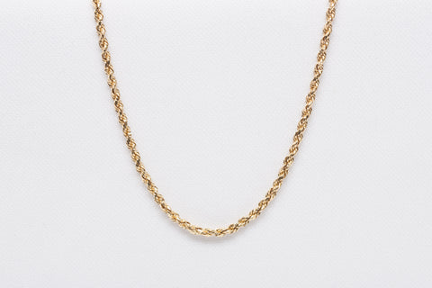 "Unisex Rope Chain 24"" 14k Yellow Gold"