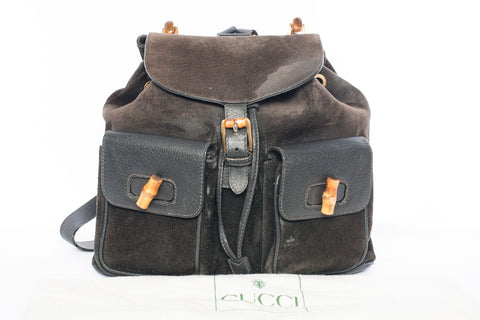 Authentic GUCCI Vintage Bamboo Backpack