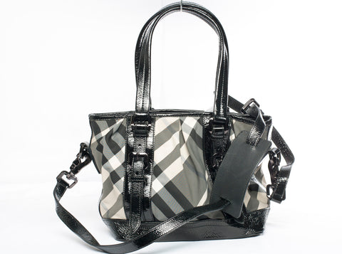 Authentic Burberry Lowry Shoulder/ Crossbody Tote