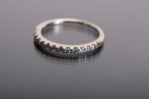 14Kt White Gold and .30TCW Natural Diamond Anniversary Band