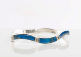 Vintage Chilean-Made, Lapis & Sterling Silver Bracelet