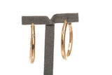 Ladies Oval Hoop Earrings 14K Yellow Gold