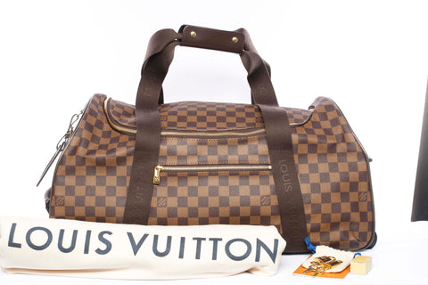 Authentic LOUIS VUITTON Duffle Neo Eole 55 Damier Ebene Rolling Luggage