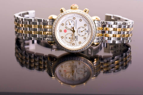 36mm Michele Two Tone Stainless .64TCW Diamond Watch