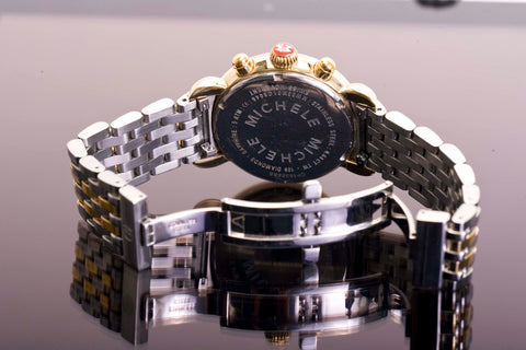 36mm Michele Two Tone Stainless .64tcw Dia. Watch