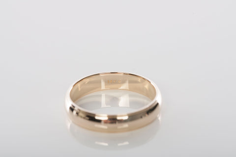 Mens 14k Yellow Gold 4.5mm Milgrain Edge Band / Ring