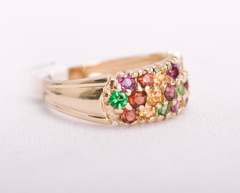 Garnet, Peridot, and Citrine Cocktail Ring