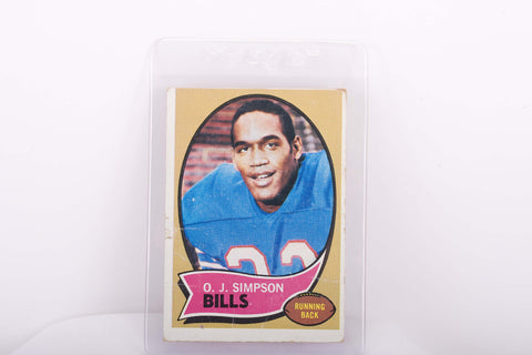 1970 Topps Rookie O.J. Simpson Buffalo Bills #90