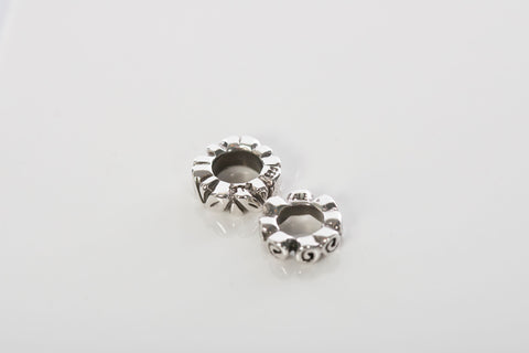 PANDORA Abstract Silver Charm Spacers (2)