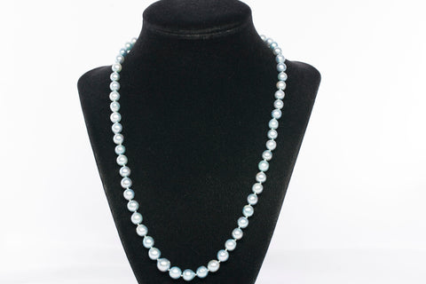 "20"" Sweet Blue Freshwater Pearl Strain Necklace"