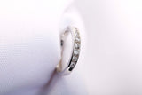 Platinum Wedding Band .11 tcw Engagement Ring  Size 5